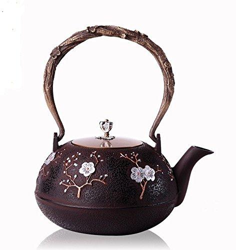 RUIKA Japanese tetsubin Cast Iron Teapot Plum blossom pattern Kettle 1200ml 40 Ounce