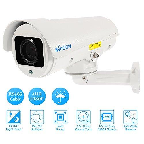 KKmoon PTZ Outdoor Camera 1080P AHD Bullet PTZ CCTV Camera 2.8~12mm...