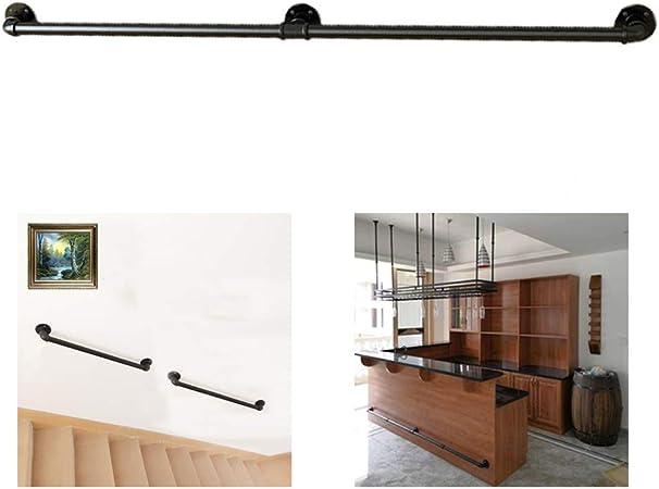 LIUSU-Stair handrail Estilo Industrial Escalera Pasamanos Decoración Montaje En Pared Tirador De Puerta, Toallero, Perchero Adecuado para Corredor Restaurante Baño Pub(50-600cm): Amazon.es: Hogar