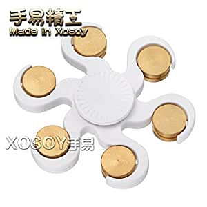 Color Dragon Ball Fidget Spinner EDC Hand Spinner For Autism and ADHD Relief Focus Anxiety Stress Toys Gift (White)