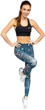 BOLF Mujer Leggings Lisos Mallas largas Jogger Pantalones Deportivos Leggings de Algodón Estamapdos Pilates Fitness Entrenamiento Slim Fit Estilo Deportivo Mix F6F