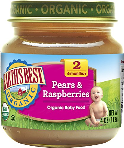 Earths Best Pear (Earth's Best, Pears and Raspberries, 4 oz)