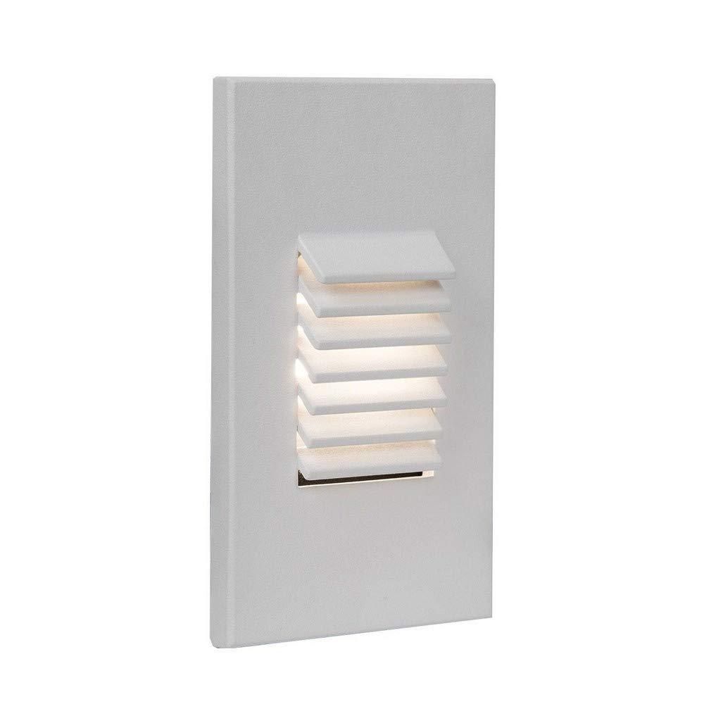 WAC Lighting WL-LED220F-C-WT 277V 3000K LED Vertical Louvered Step and Wall Light, White