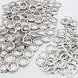 Wolfride 100 Sets Silver Grommets Brass Grommets