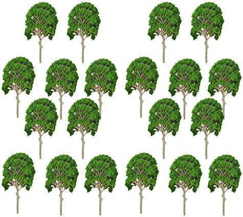 T TOOYFUL 1/50-1/75 樹木 モデルツリー 20本 鉄道模型 ジオラマ 箱庭 DIY 装飾 アクセサリー 20個入り