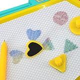 Eshock Kid Color Magnetic Writing Painting Drawing Graffiti Board Toy ,Preschool Tool (Blue)