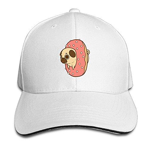 Cutadorns Puppy Donuts Sports Sandwich Cap White (Running Y Ranch Halloween)