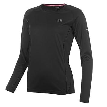 Ladies KARRIMOR Long Sleeved Running Top   Sports Shirt - Black - Size 8 afc7ec155ebc