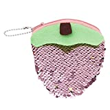 LALANG Girls Wallet Sequins Coin Purse Women Headset Storage Bag Children Gift(Pink)