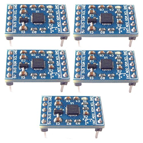 Optimus Electric MPU-6050 3 Axis Accelerometer and Gyroscope Module Acceleration and Tilt-Stance Sensor from Pack of 5