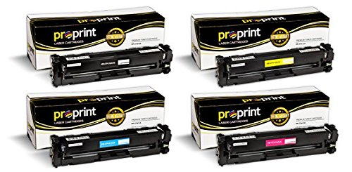 ProPrint (TM) Compatible HP 410A (CF410A CF411A CF412A CF413A) Toner Cartridge Set for LaserJet M452dn M452dw M452nw M477fdw M477fnw (4 Pack)