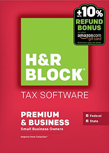 H&R Block 2015 Premium + Business Tax Software + Refund Bonus Offer - Windows Download [Old Version]