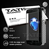 [Super smooth For APP game winner] Tateguard Iphone 7 plus Matte Tempered Glass Screen Protector [Super Anti-fingerprint][Edge-to-Edge Coverage] [Black Tooling]