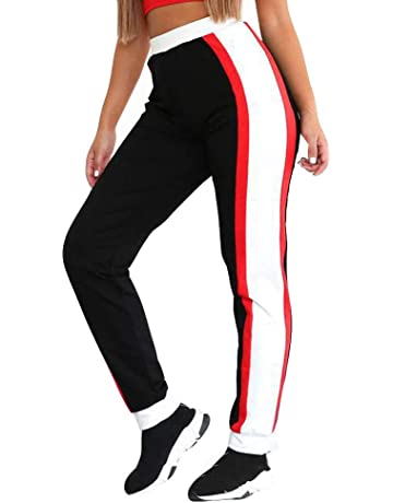 c26b83e393 BANAA Women's Trousers, High Waist Pants Workout Colorblock Leggings  Fitness Sport Gym Yoga Sweatpants Athletic