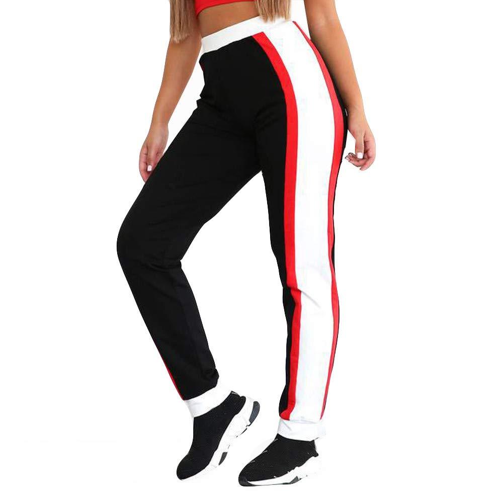 Pantalones Largos de chándal elásticos para Mujer Casual Cintura ...