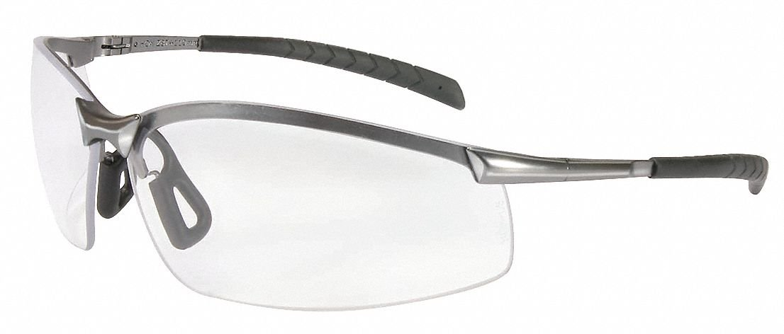 Honeywell Clear Safety Glasses, Anti-Fog, Half-Frame