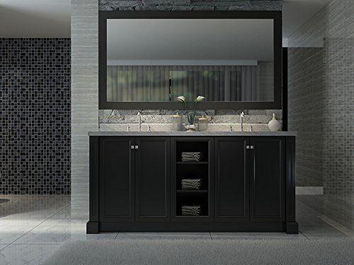 """Price comparison product image Westwood 72"""" Double Sink Vanity Set in Black"""