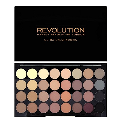 Makeup Revolution 32 Color Eyeshadow Palette, Flawless Matte
