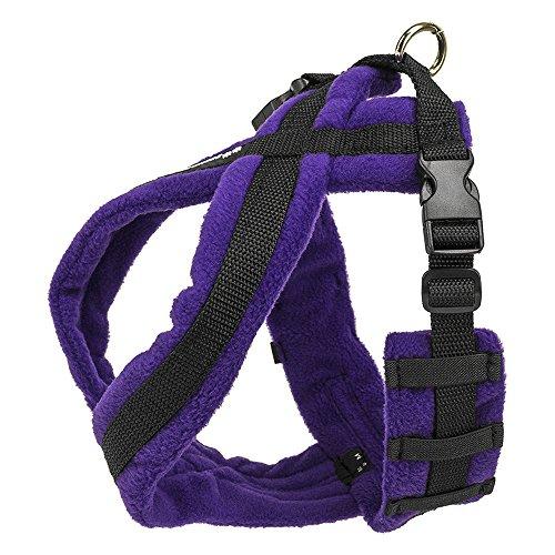 EEZWALKER Fleece Dog Harness (Large, Purple) ()