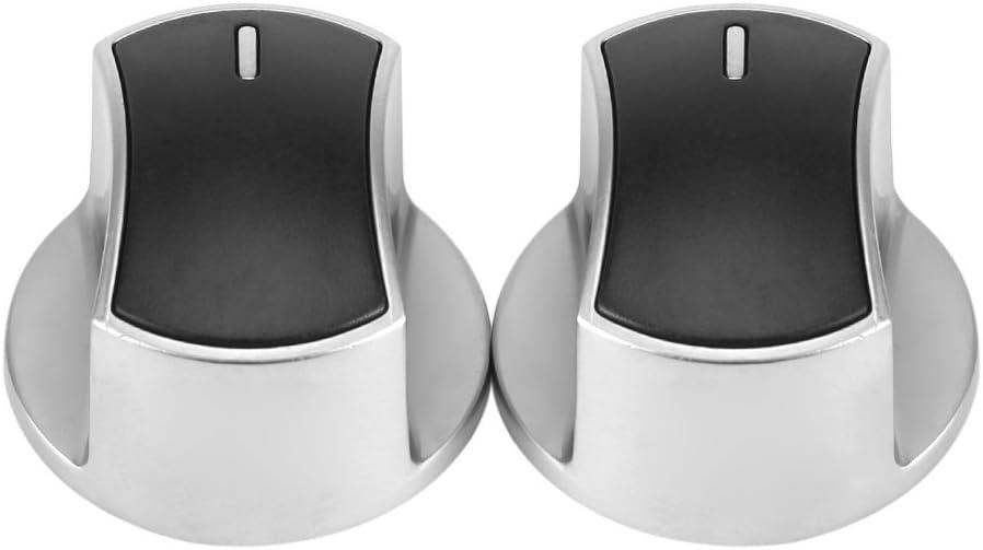 2pcs Perilla de la Hornilla Universal Cocina de Gas Estufa Botones de Control de Piezas Reemplazo de Metal Interruptor de Horno Rotatorio