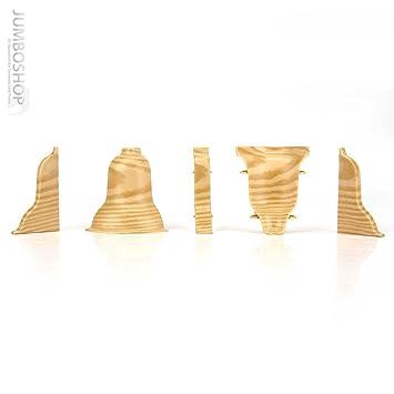 HOLZBRINK 2m Sockelleisten Fussleisten 52mm x 28mm aus Kunststoff Fussbodenleiste LP52 499 Ahorn