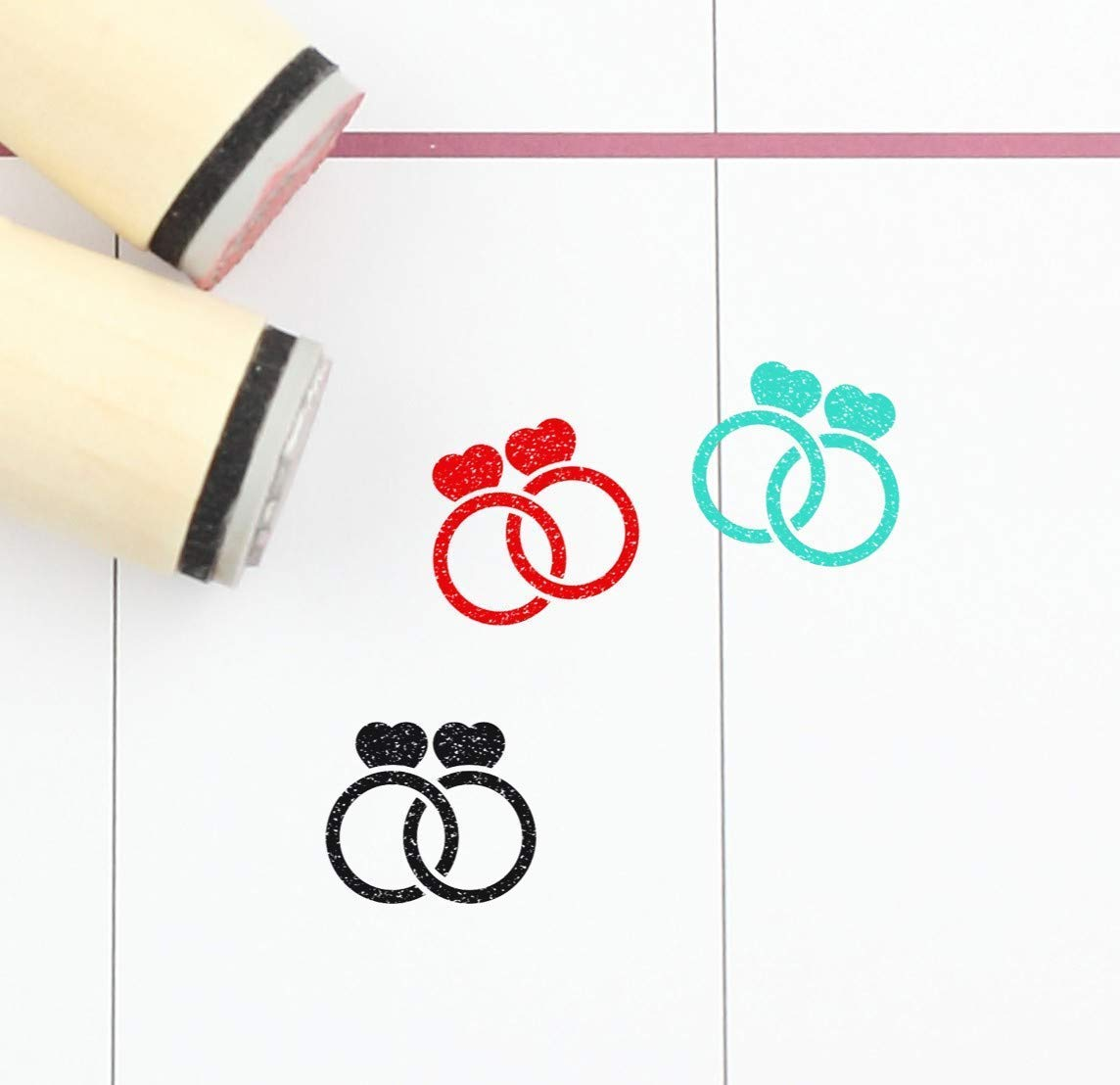 S335 Engagement ring Stamp Rings Rubber Stamp 16mm 20mm Mini Stamps Wedding Ring Stamp Planner Stamp
