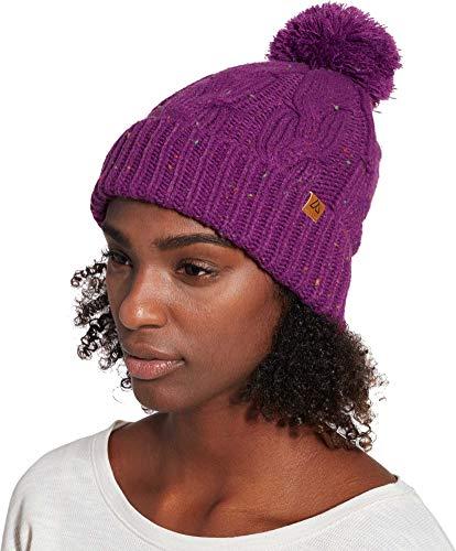 Alpine Design Womens Cable Knit Beanie(Byzantium Purple,OneSize)