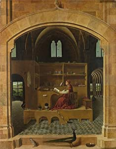'Antonello da Messina Saint Jerome in his Study ' oil painting, 16 x 20 inch / 41 x 52 cm ,printed on Perfect effect canvas ,this Cheap but High quality Art Decorative Art Decorative Prints on Canvas is perfectly suitalbe for Study artwork and Home artwork and Gifts