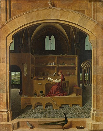 'Antonello Da Messina Saint Jerome In His Study ' Oil Painting, 16 X 20 Inch / 41 X 52 Cm ,printed On High Quality Polyster Canvas ,this Cheap But High Quality Art Decorative Art Decorative Canvas Prints Is Perfectly Suitalbe For Foyer Artwork And Home Gallery Art And Gifts
