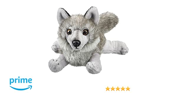 Amazon Com Gray Wolf Stuffed Animal Plush Toy 18 L Toys Games