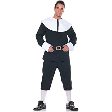 Amazon mens pilgrim costume blackwhite xx large clothing mens pilgrim costume blackwhite xx large solutioingenieria Images