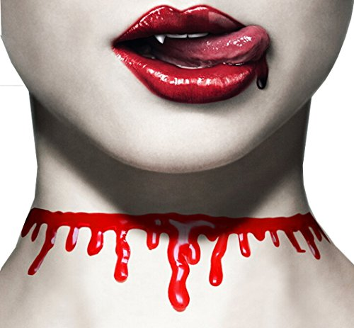 Fashionclubs Halloween Bloody Drip Cut Necklace Party Choker