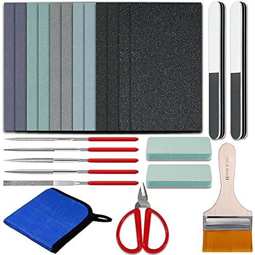 Kit de 24 herramientas para lijado de resina