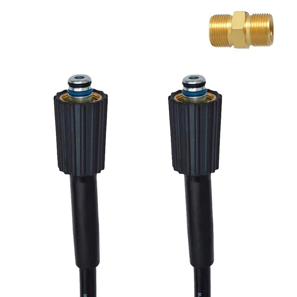 Manguera de repuesto para lavadora de presión y manguera de extensión con conector M22-14 / 15mm doble junta tórica para Lavor, Sterwins, 220 bares, Bosch GHP, Ryobi
