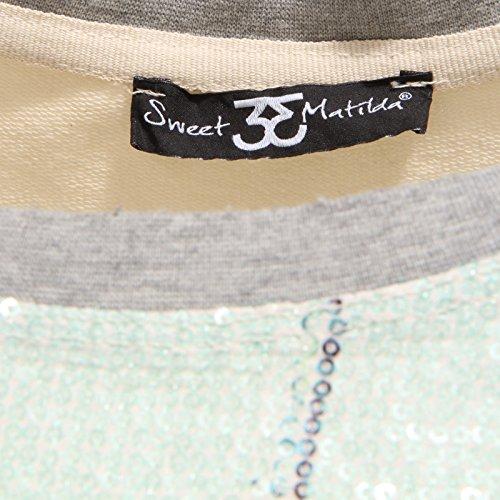 Sweatshirt Matilda Donna 0285r Sweet Multicolore Woman Paillettes Felpa Multicolor xAqYdnwgd