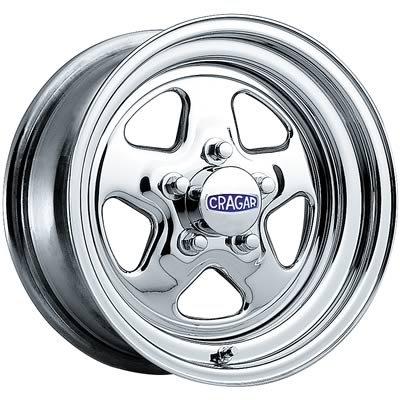 Cragar Crr-3415734: Wheel, Street Star, Steel, Chrome, 15 In. X 7 In., 5 X 4.75 In. Bolt Circle, 4.1