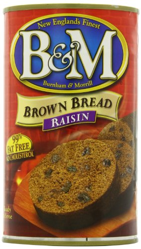 B&M Brown Bread, Raisin, 16 Ounce (Pack of 12) (Canned Sandwich)