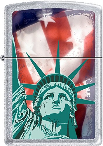 Zippo Brushed Chrome Statue of Liberty Lighter ()