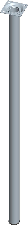 Element System Pieds en tube d'acier ronds pour tables et meubles avec plaque de vissage, lot de 4 pieds, 11100-00058 DIY Element System GmbH 18133-00272