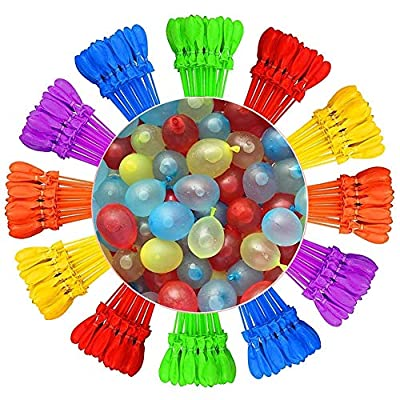 Jennles Imports Rapid-Filling Self-Sealing Instant Water Balloons - Over 333 Water Balloons (9 Pack), Summer Children Water Toys: Kitchen & Dining