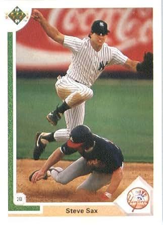 Amazon.com: 1991 Upper Deck # 462 Steve Sax New York