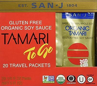 San-j Organic Tamari Gluten Free Soy Sauce Travel Pack