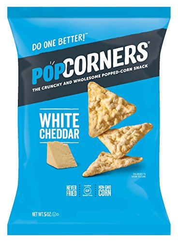 Popcorners White Cheddar Popped Corn Chips, 5 oz ()