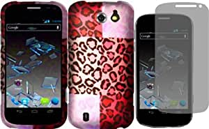 For ZTE Flash N9500 Hard Design Cover Case Exotic Cheetah+LCD Screen Protector