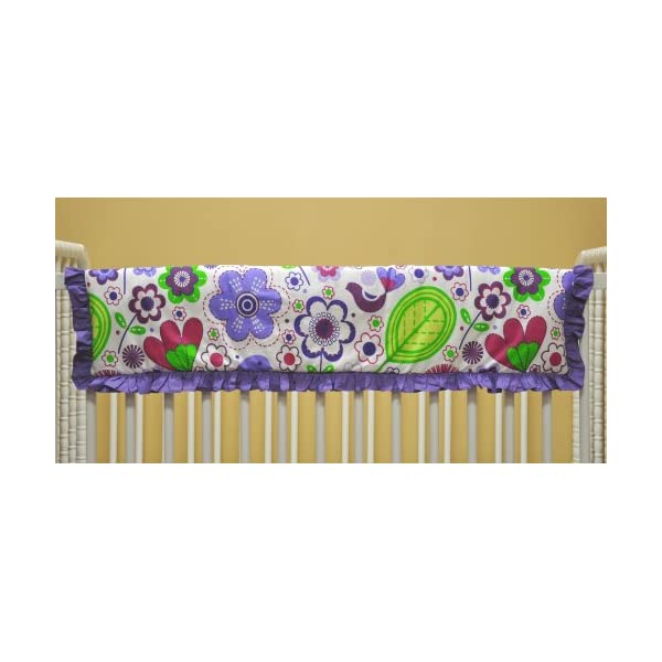 Bacati Botanical Purple Crib Rail Protector