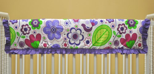 Botanical Multicolor Crib Rail Protector by Bacati