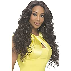 Vivica A Fox Hair Collection Sunflower Natural Baby Swiss Lace Front Wig Invisible New Futura Fiber Lace Part, 2, 14.3 Ounce