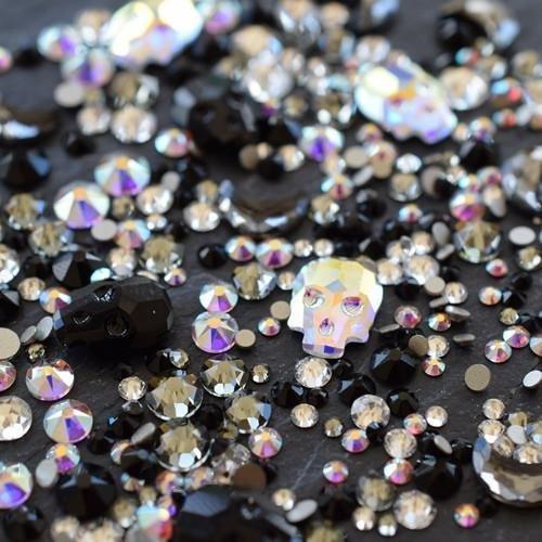 Swarovski Nail Art Gems Theme Mix Halloween | Pack of 260 | Small & Wholesale -