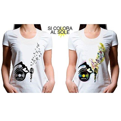 Lica1 nbsp;manches Colorant Du Au T Cou L Courtes Femme Taille C Ras shirt Soleil Qui Se shirt qwwtP7H