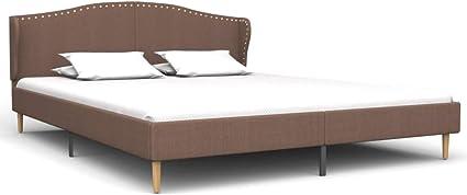 vidaXL Cama con Colchón Tela Mobiliario de Dormitorio ...